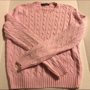 Ralph Lauren Womens Large Pink Pullover Sweater